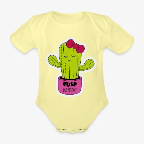 Cute Cactus Girl - Baby Bio-Kurzarm-Body