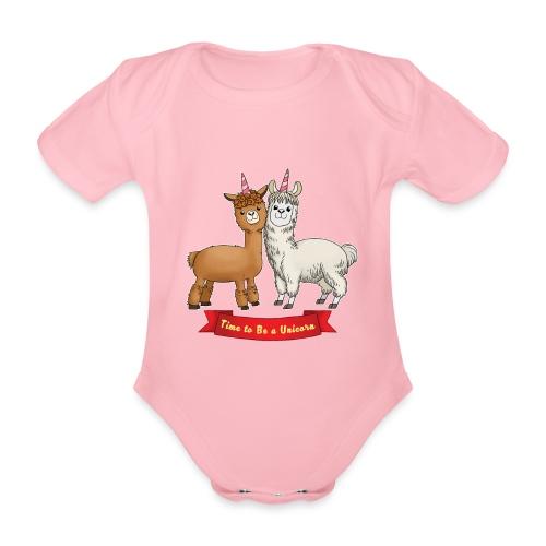 Time to Be a Unicorn 12x14 CMYK - Baby Bio-Kurzarm-Body