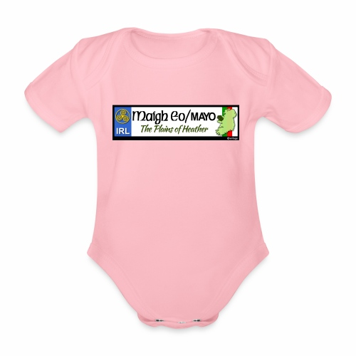 CO. MAYO, IRELAND: licence plate tag style decal - Organic Short-sleeved Baby Bodysuit