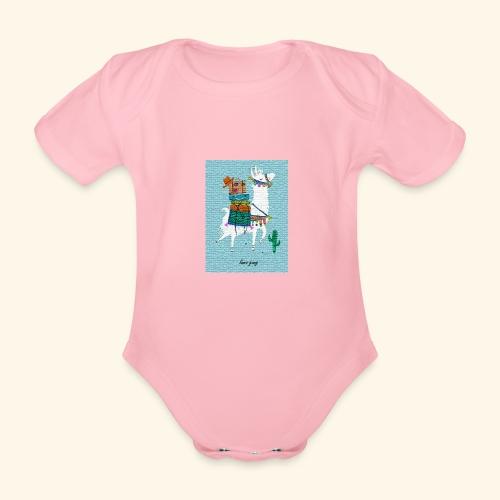 Lama Gang - Baby Bio-Kurzarm-Body