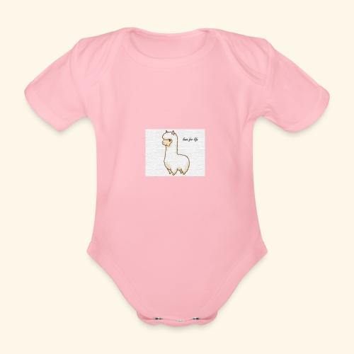lama / alpaca - Baby Bio-Kurzarm-Body