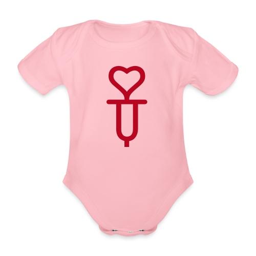ADDICTED TO LOVE - Organic Short-sleeved Baby Bodysuit
