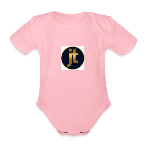 Golden jt logo - Organic Short-sleeved Baby Bodysuit