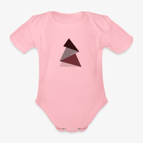 fir triangles 2 - Organic Short-sleeved Baby Bodysuit