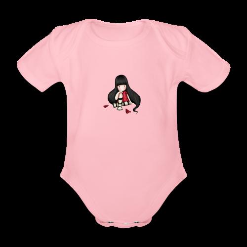 88 - Body orgánico de maga corta para bebé