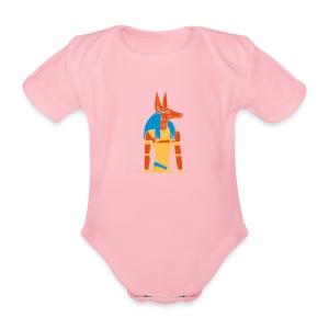 Der altägyptische Gott Anubis - Baby Bio-Kurzarm-Body