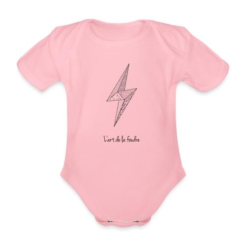 l'art de la foudre - Baby Bio-Kurzarm-Body