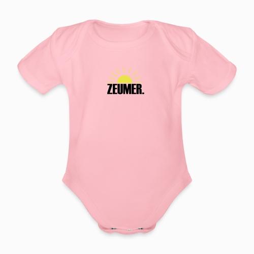 ZEUMER IN ZEELAND - ZON, ZEE & STRAND ZEEUWSE KUST - Baby bio-rompertje met korte mouwen
