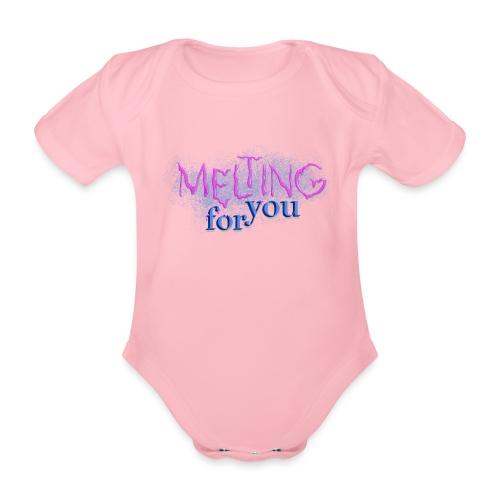 Melting for you - Kortærmet babybody, økologisk bomuld