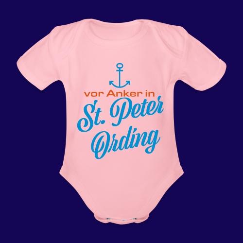 Vor Anker in St. Peter-Ording: Das maritimes Motiv - Baby Bio-Kurzarm-Body