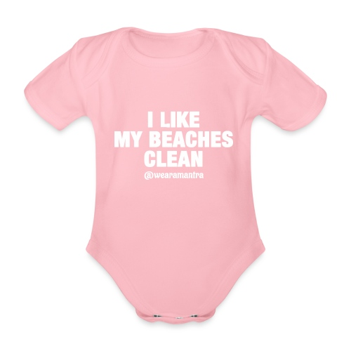 I LIKE MY BEACHES CLEAN - Body ecologico per neonato a manica corta