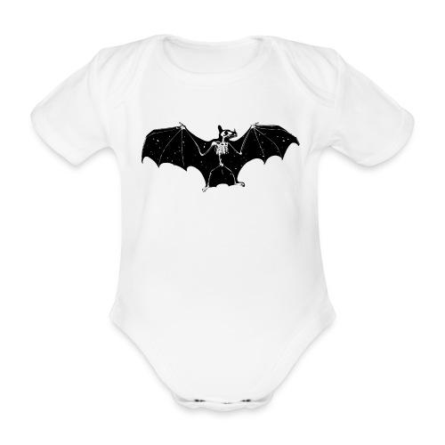 Bat skeleton #1 - Organic Short-sleeved Baby Bodysuit