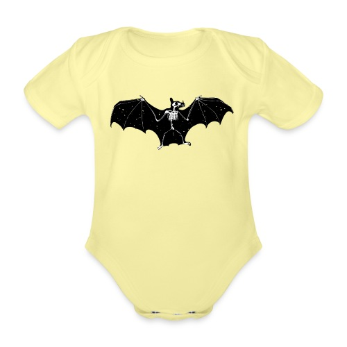 Bat skeleton #1 - Organic Short-sleeved Baby Bodysuit