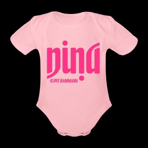 Ambigramm Nina 01 Pit Hammann - Baby Bio-Kurzarm-Body