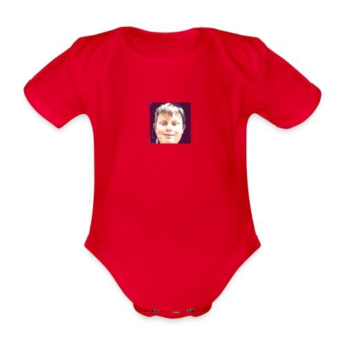 LuradoTV Logo - Organic Short-sleeved Baby Bodysuit