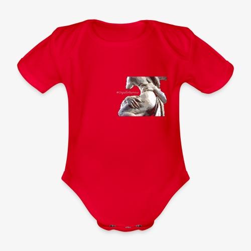 #OrgulloBarroco Rapto difuminado - Body orgánico de manga corta para bebé