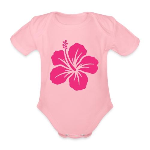Camisetas, blusas, forros celulares de flor rosada - Body orgánico de maga corta para bebé