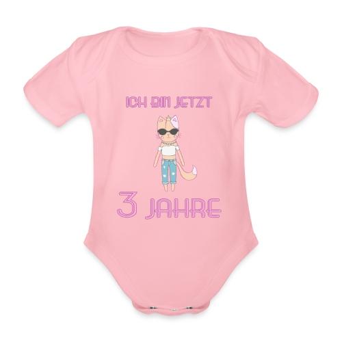Ich bin jetzt 3 Jahre / Geschenk zum 3. Geburtstag - Baby Bio-Kurzarm-Body