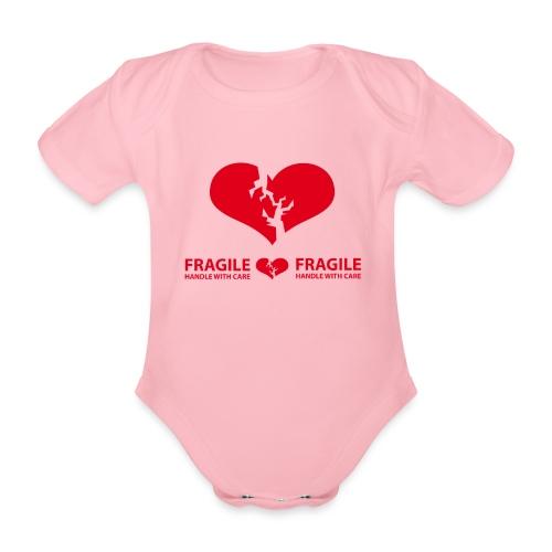 I am FRAGILE - Handle with care! - Ekologisk kortärmad babybody