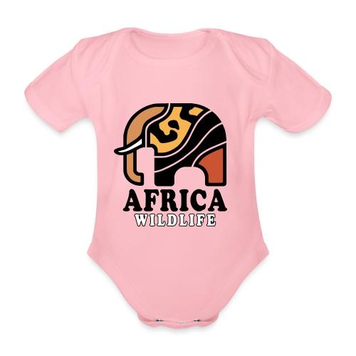 Elefant I AFRICA Wildlife - Baby Bio-Kurzarm-Body