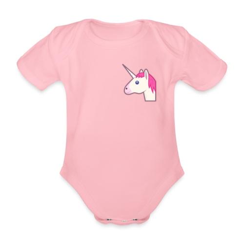 unicorn print shirts - Kortærmet babybody, økologisk bomuld