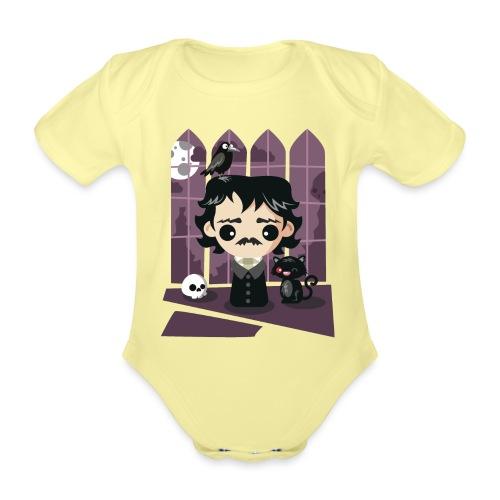 A damned Poe-t's house - Body ecologico per neonato a manica corta