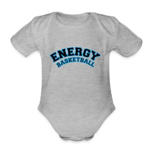 baby energy basketball logo nero - Body ecologico per neonato a manica corta