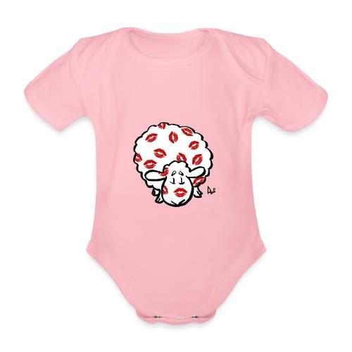 Kiss Ewe - Baby bio-rompertje met korte mouwen