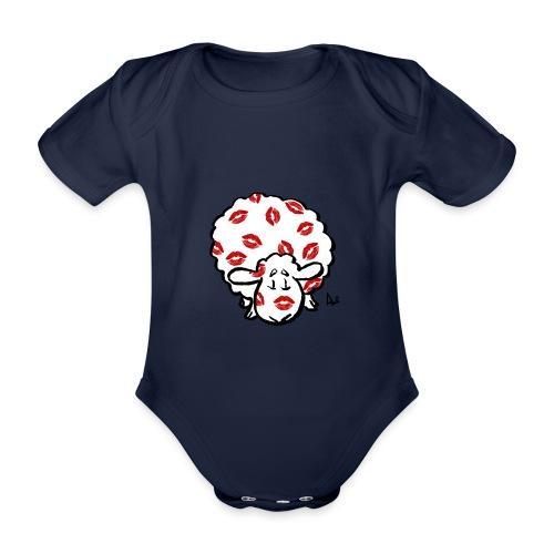 Kuss Mutterschaf - Baby Bio-Kurzarm-Body