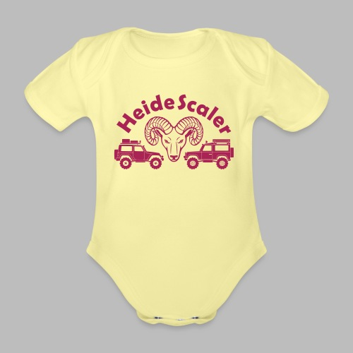 Heide Scaler (freie Farbwahl) - Baby Bio-Kurzarm-Body