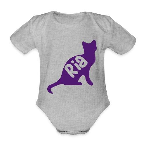 Team Ria Cat - Organic Short-sleeved Baby Bodysuit