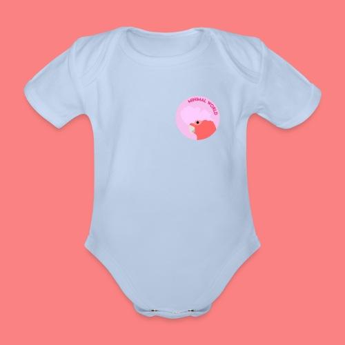 minimal world logo - Body ecologico per neonato a manica corta