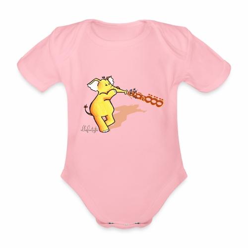 Ellafant mit Trompete - Baby Bio-Kurzarm-Body