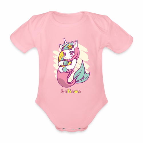 Meerjungfraucorn - Baby Bio-Kurzarm-Body