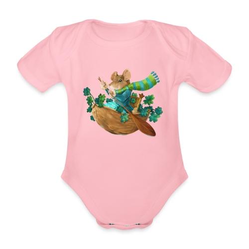 Glücksmaus - Baby Bio-Kurzarm-Body