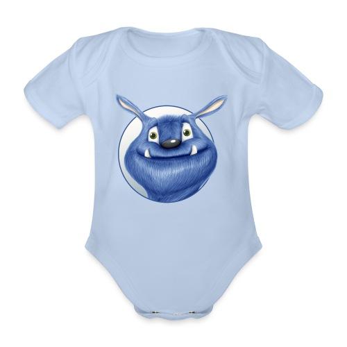 blaues Monster - Baby Bio-Kurzarm-Body