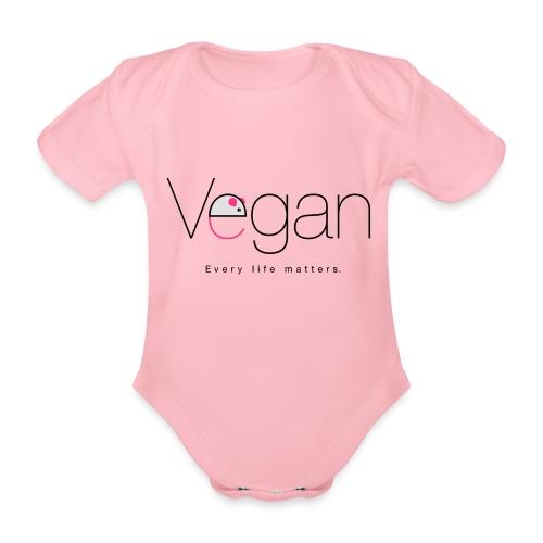 VEGAN - every life matters - Organic Short-sleeved Baby Bodysuit