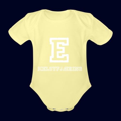 E - Meløyfjæring - Økologisk kortermet baby-body