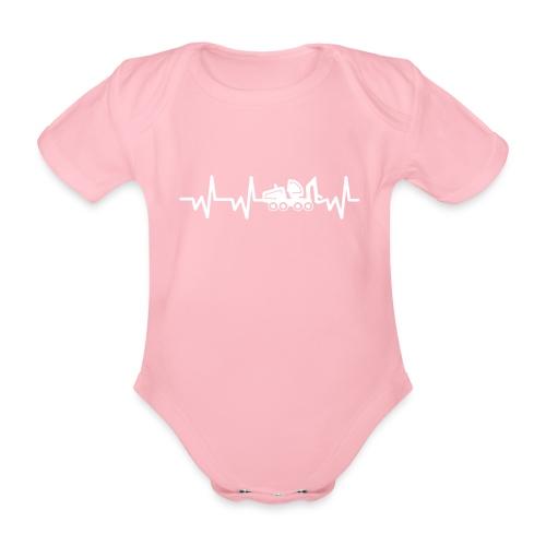 Forst | Herzschlag weiß - Baby Bio-Kurzarm-Body
