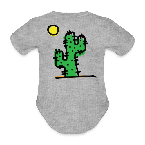 Cactus single - Body ecologico per neonato a manica corta