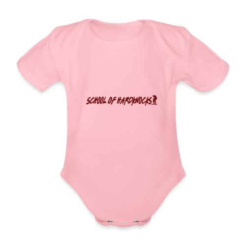 school of hardknocks ver 0 1 red - Kortærmet babybody, økologisk bomuld