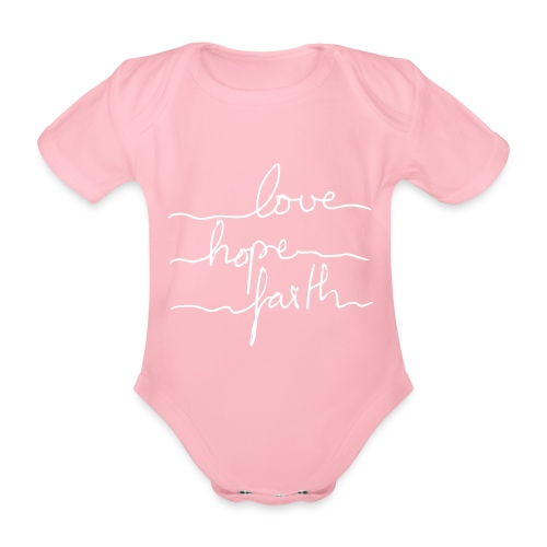 LoveHopeFaith Typo - Baby Bio-Kurzarm-Body