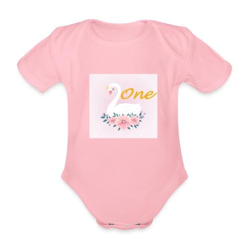 Zwaan one - Baby bio-rompertje met korte mouwen