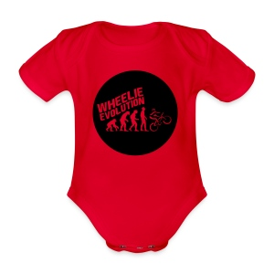 Wheelie Evolution (BLACK) - Baby Bio-Kurzarm-Body