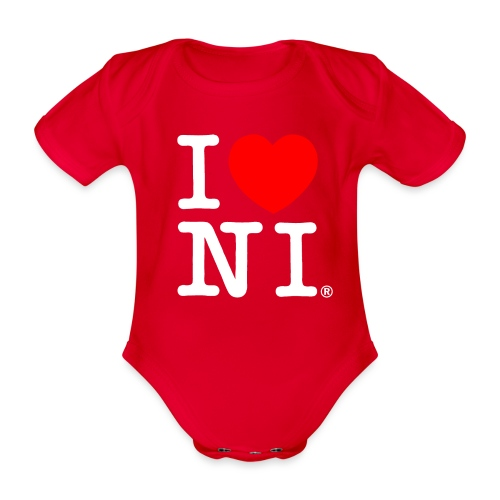 I love NI - Organic Short-sleeved Baby Bodysuit
