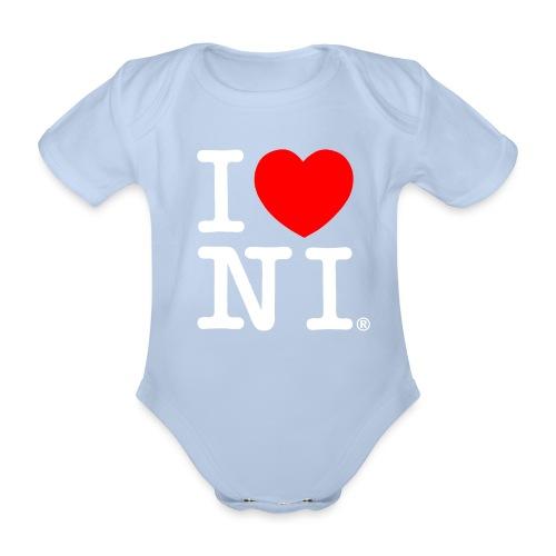 I love NI - Organic Short-sleeved Baby Bodysuit
