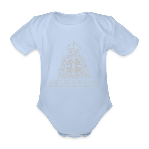 Northern Ireland arms - Organic Short-sleeved Baby Bodysuit