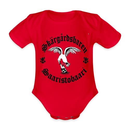 Black n white logo - Vauvan lyhythihainen luomu-body