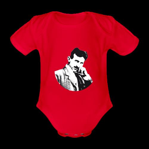Nikola Tesla - Body orgánico de maga corta para bebé