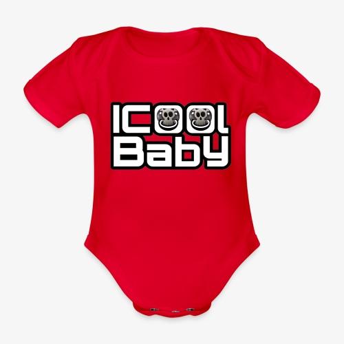 Eigenlogo der Marke ICoolBaby - Baby Bio-Kurzarm-Body